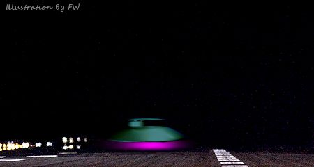 Close Encounter: Grounded UFO Blocked Road, Suddenly Lifts Off in Blinding Light