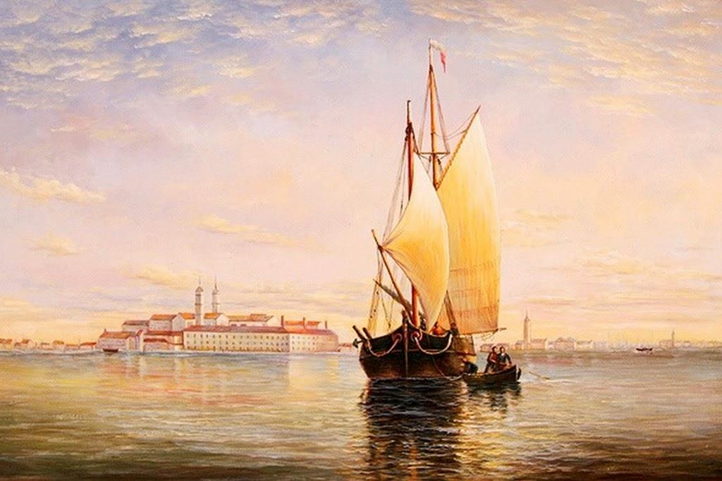 barcos-de-vela-paisajes-al-oleo