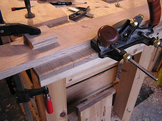 Cutting the tenons