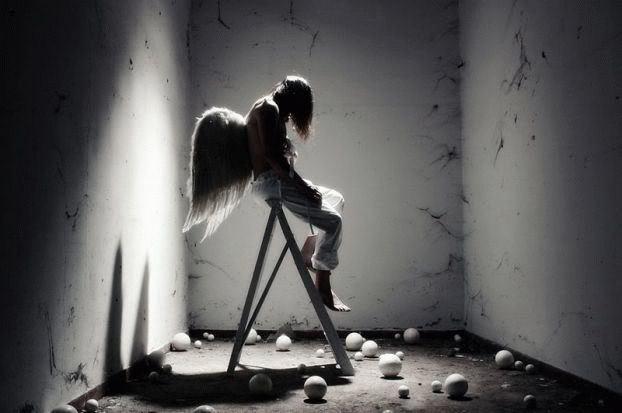 Ảnh đen trắng thiên thần buồn nhất thế giới.