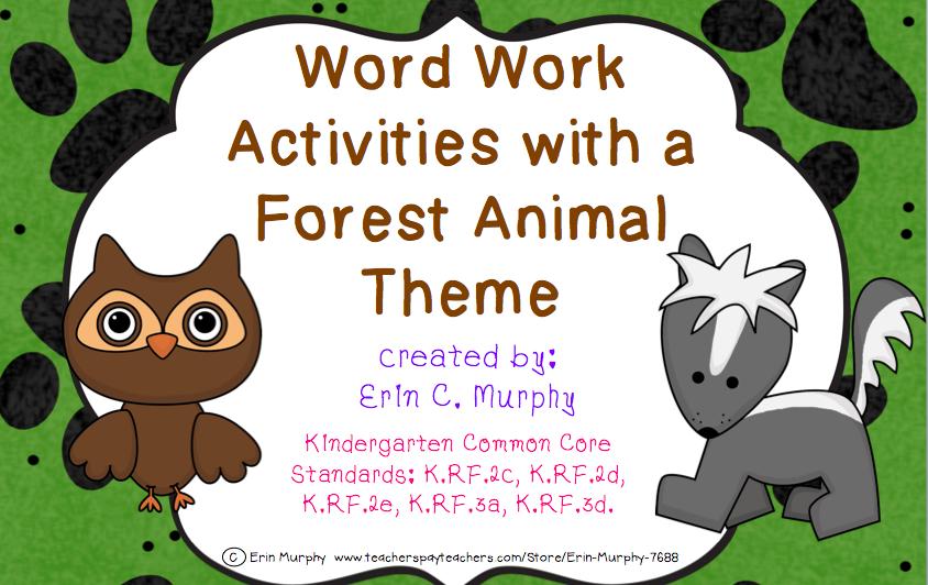 http://www.teacherspayteachers.com/Product/Forest-Animal-Themed-Word-Work-Activities-1255288