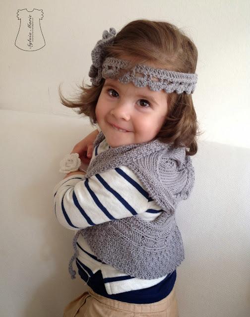 cinta del pelo en crochet