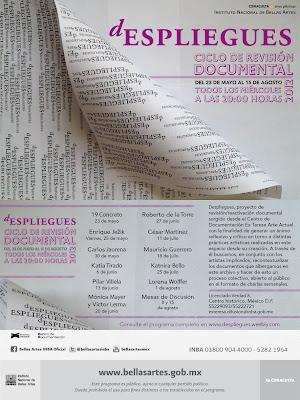 Programa del ciclo en el Ex Teresa Arte Actual