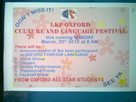 Contoh Pengumuman Festival Bahasa Inggris (English Announcement)