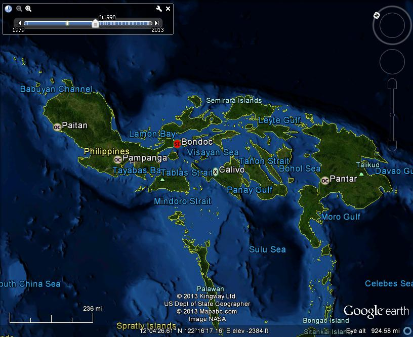 Meteorite maps and impact craters worldwide philippines meteorites found in the republic of the philippines v1 c 2013 lunarmeteoritehunter google earth usgs publicscrutiny Choice Image
