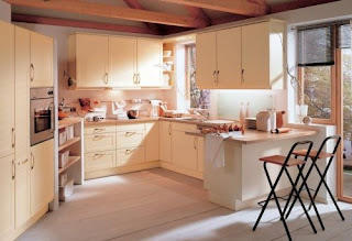 Contemporary Cream Kitchen Cabinets