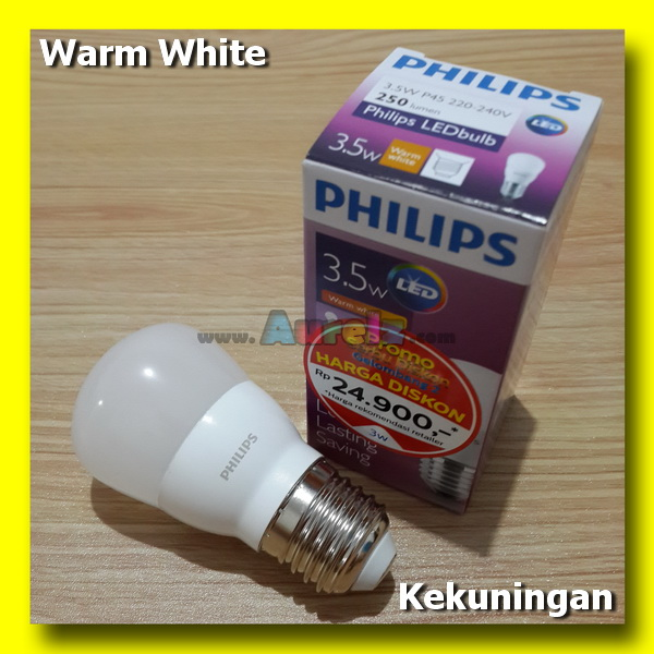 lampu led philips 3.5 watt warm white