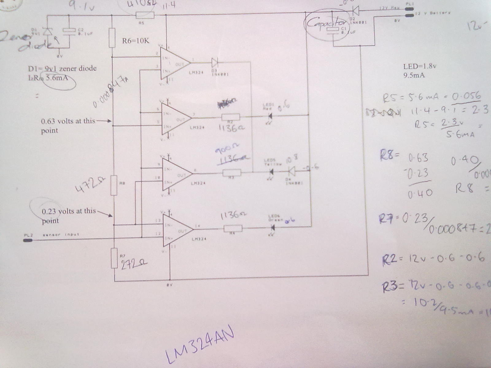 Lily Green Ttec 4847 Oxygen Sensor Schematic Figuring Out The Values Of Resistors Wasnt To Hard Once We Were Taught How Do It Starting With R5 Which Was One First So Because