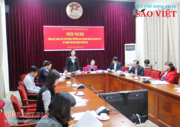 Theo sự tìm hiểu qua báo đài của trung tâm gia sư Sao Việt quận Hai Bà Trưng, Hà Nội cần phấn đấu thêm 100 trường đạt chuẩn quốc gia trong năm 2015