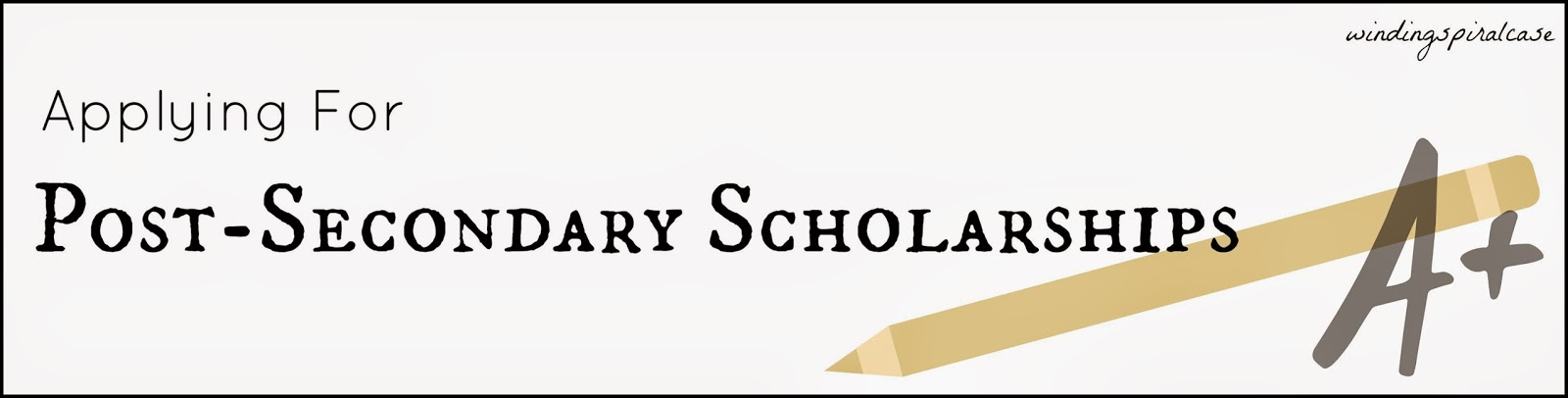 how to apply for post secondary college university scholarships