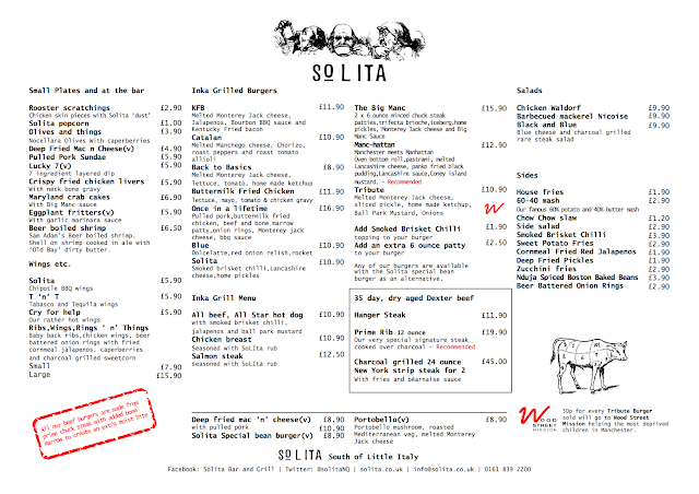 Solita Manchester - New Menu