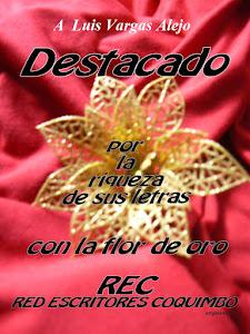 Flor de Oro del Grupo Literario REC a Luis Vargas