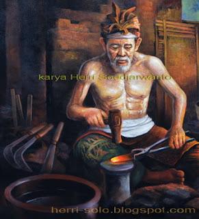 Lukisan Pande Besi Karya Herri Soe