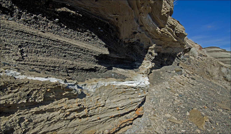 Volcanic ash layer.
