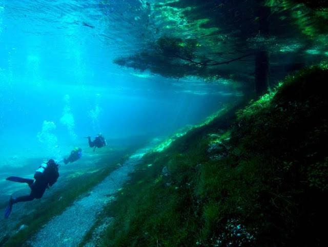 Amazing underwater park Austria