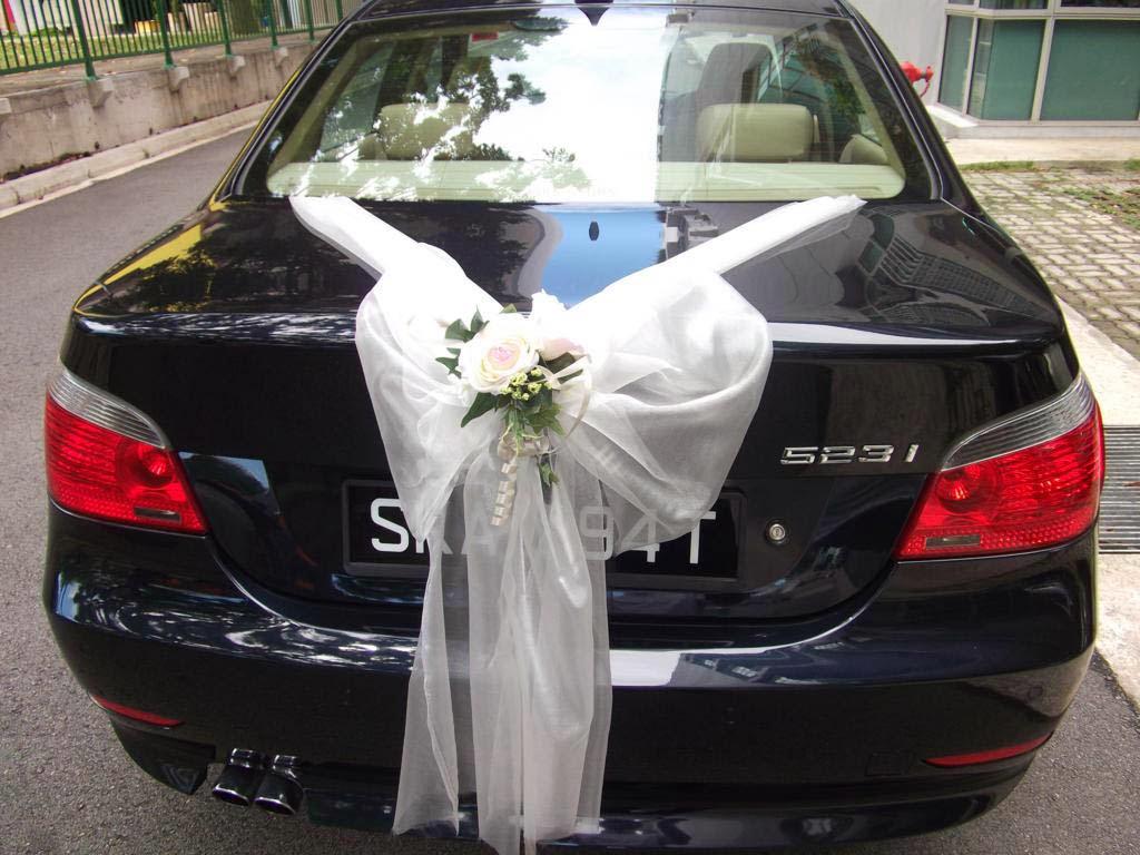 wedding inspirations udekorowanie samochodu car
