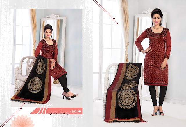 New Styles Patiala Style Embroidered Dress Material
