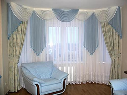 Home interior decoration ideas living room curtain design for Living room curtain ideas
