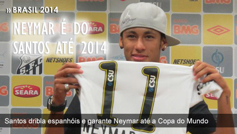 Neymar é do Santos até 2014, Neymar não é do Real, nem do Barcelona. É do Santos