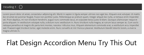 How to create a flat design accordion menu using Jquery