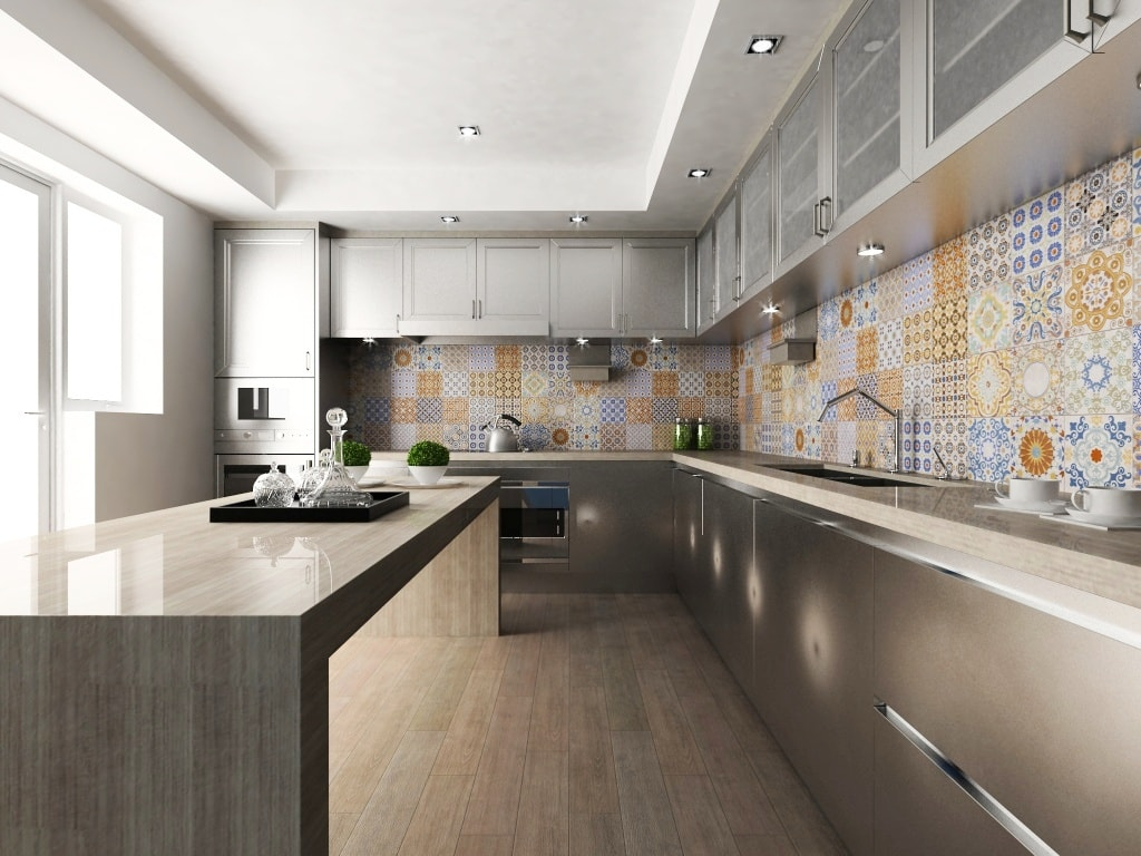 Ideas de revestimientos para las paredes de la cocina for Paredes con azulejo