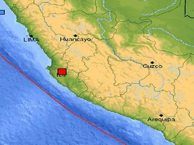 Sismo de 5,5 grdaos sacude Perú 06 de Mayo de 2012