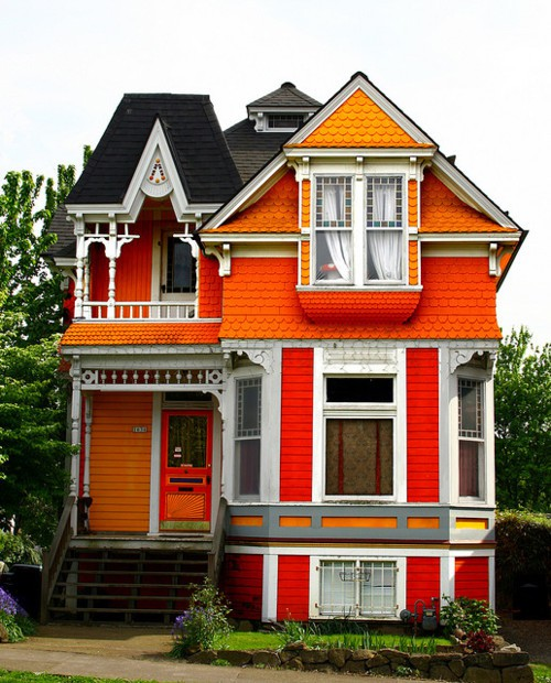 Dishfunctional designs color palette tangerine to orange - Bright house colors for exterior ...