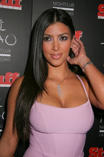 popular people kim kardashian straight hair