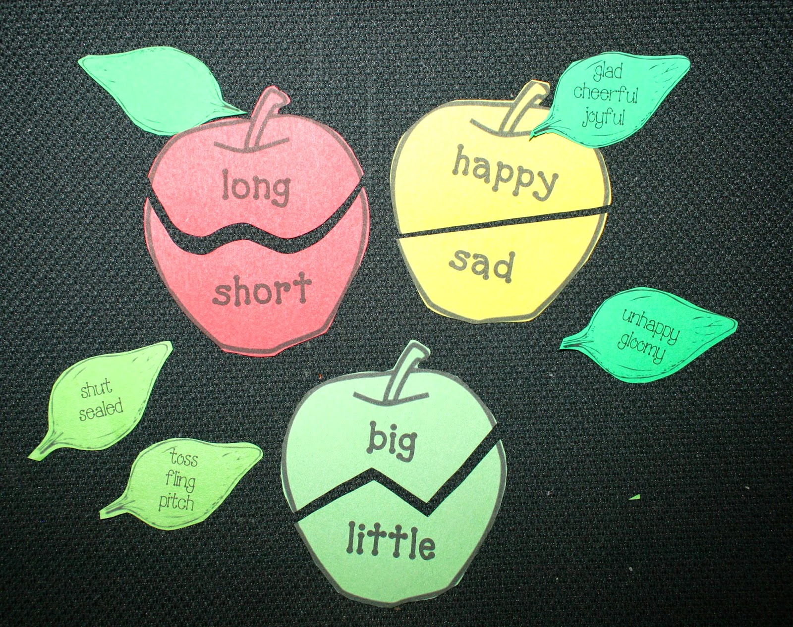 Classroom freebies synonym antonym apples for Synonym of ideas