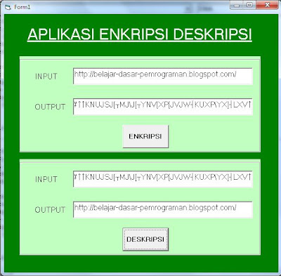 Capture - Aplikasi Enkripsi-Deskripsi Sederhana Pada Visual Basic