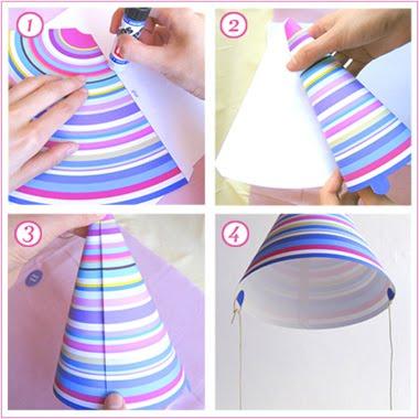 Как сделать из бумаги шапка для день рождения8