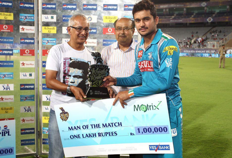 Manish-Pandey-Man-of-the-Match-Award-KKR-vs-PWI-IPL-2013
