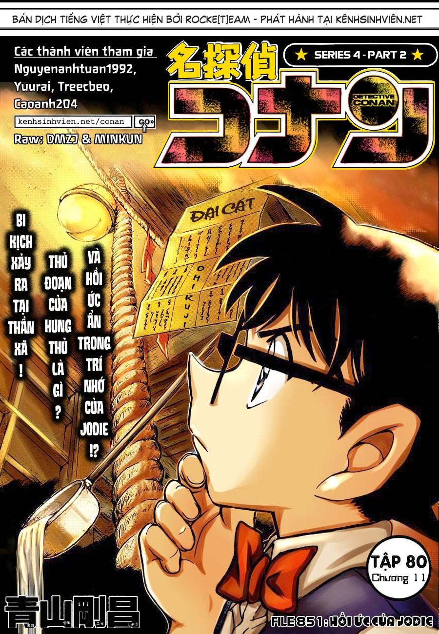 Detective Conan - Thám Tử Lừng Danh Conan chap 851 page 1 - IZTruyenTranh.com