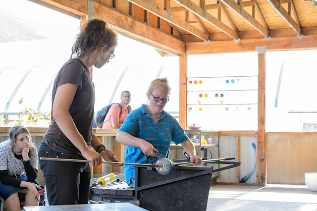 Emily and Amy at Golden Glassblowing Experience