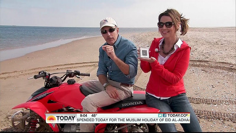 Savannah Guthrie on a ride