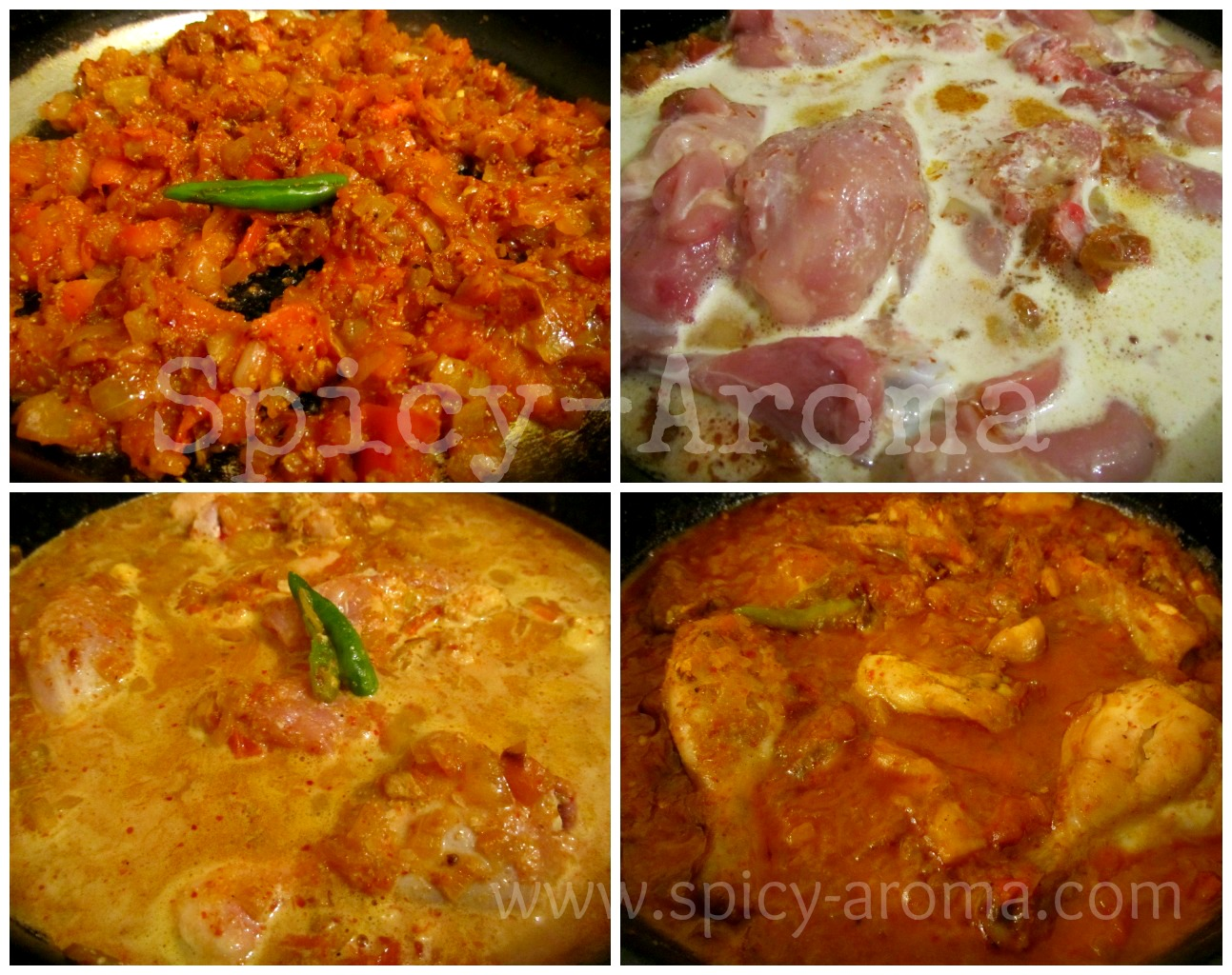 Kadai chicken recipe with step by step pictures spicy aroma forumfinder Images
