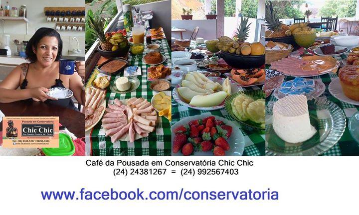 A #Pousada em #Conservatória tem um farto e saboroso café!