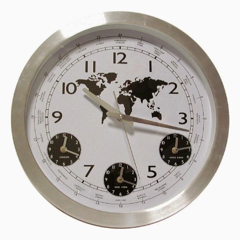 reloj de pared 3 diales