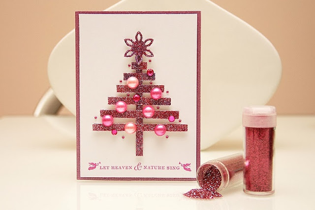Glittered ideas how to make handmade pop up christmas cards