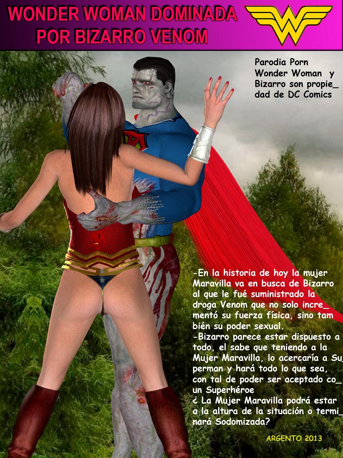 La Mujer Maravilla dominada por Bizarro
