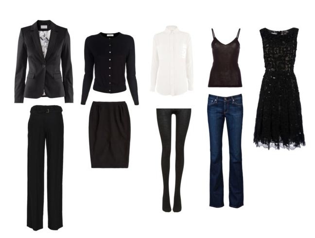 Capsule wardrobe basics black dress - Possibilities Creating Your Capsule Wardrobe
