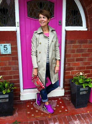 A school run outfit of Nike, Boden, Gap and All Saints to help with sore toes!