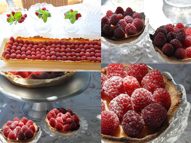 tartes aux framboises