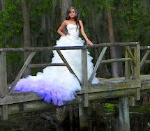Ombre-Wedding-Dress-Green