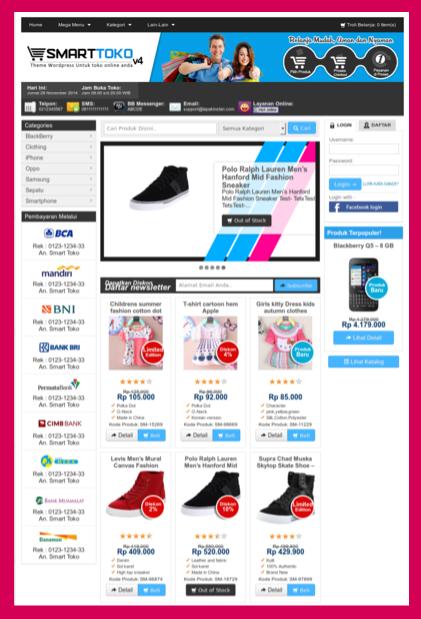 Template toko online 2015