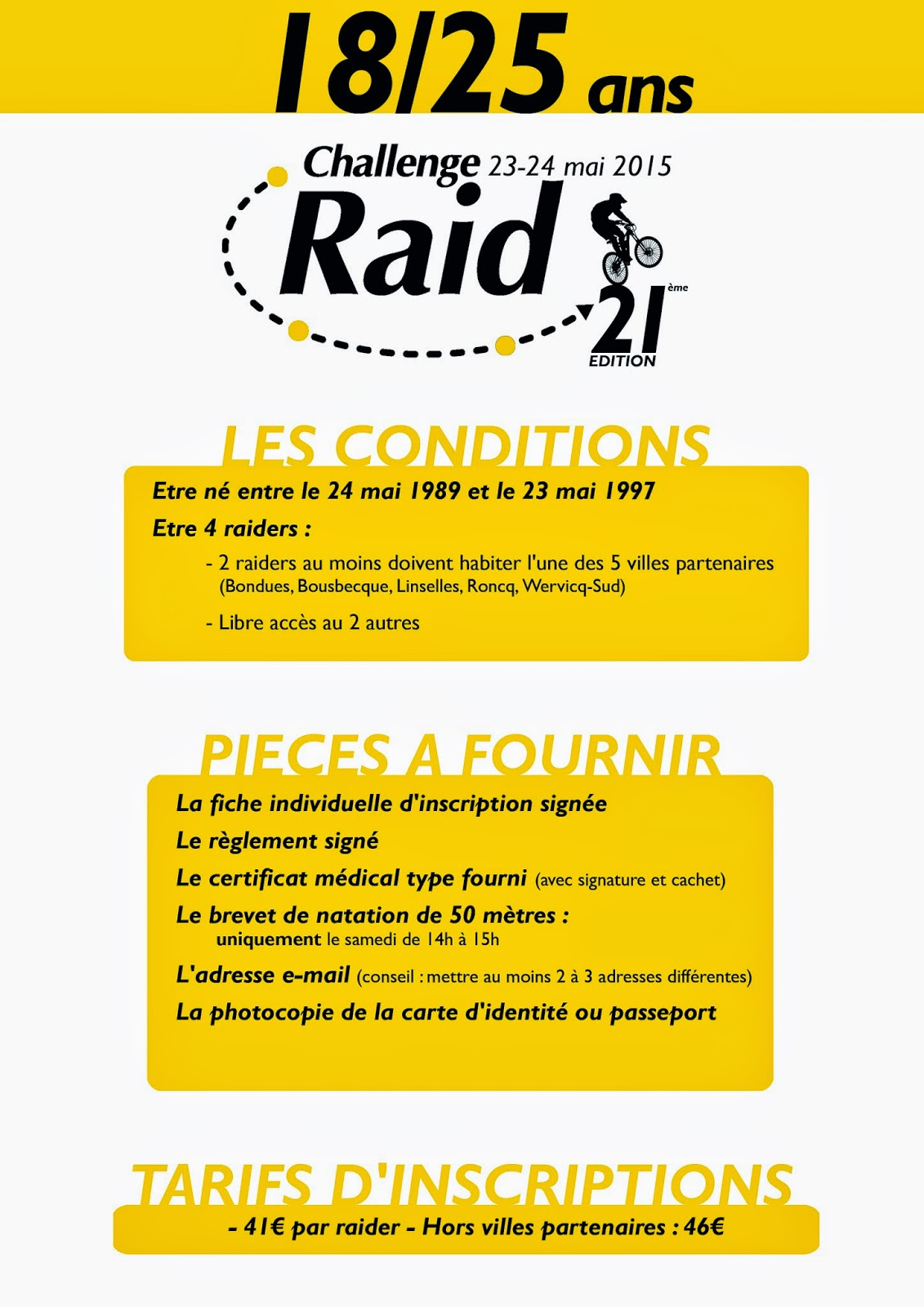 challenge raid vallee de la lys inscriptions 2015 cat gorie 18 25 ans. Black Bedroom Furniture Sets. Home Design Ideas