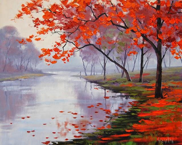 Пейзаж современных художников