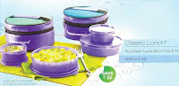 Tupperware classic Slim lunch Set of 2