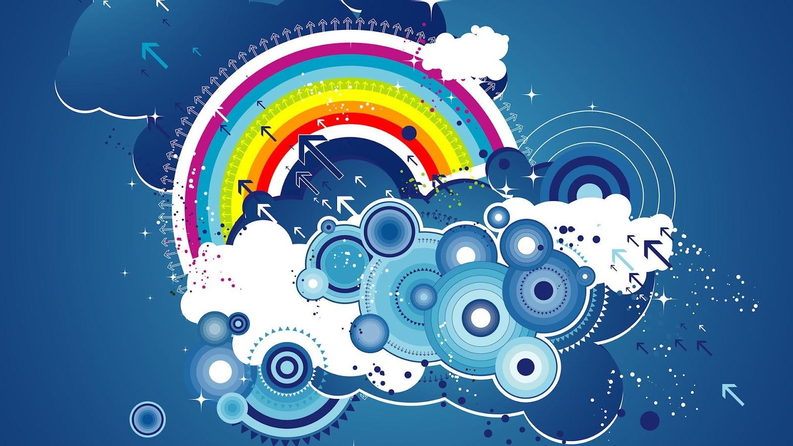 Wallpapers hd 40 fondos de pantalla de arcoiris for Fondo blanco wallpaper