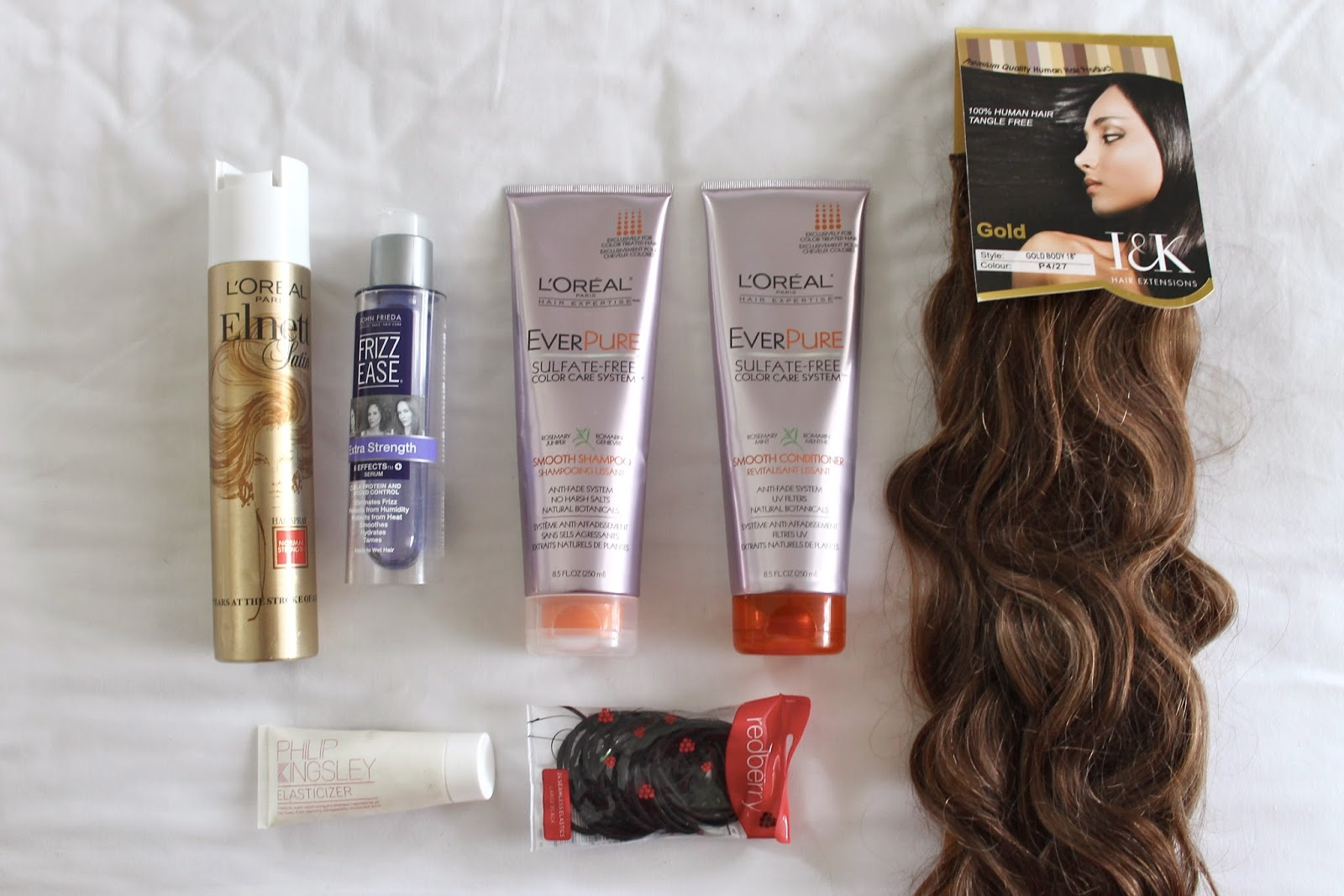 Hair care routine frizz ease hair extensions
